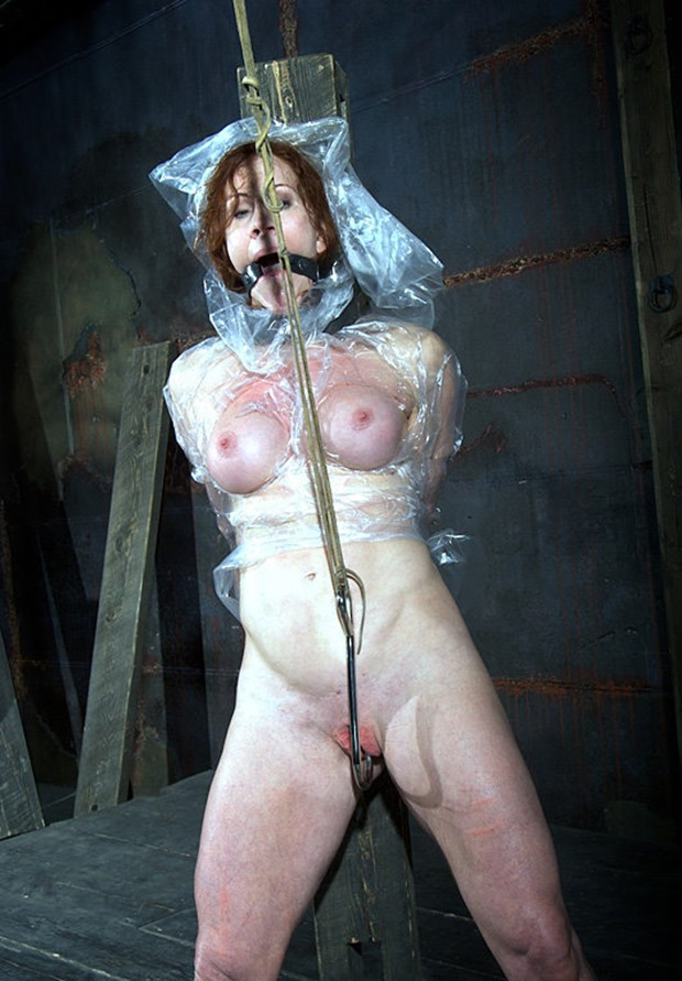 Catherine DeSade tied and ball gagged