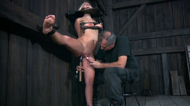 Crystal gets mind fucked and ball gagged