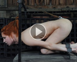 ball gagged redhead gets punished